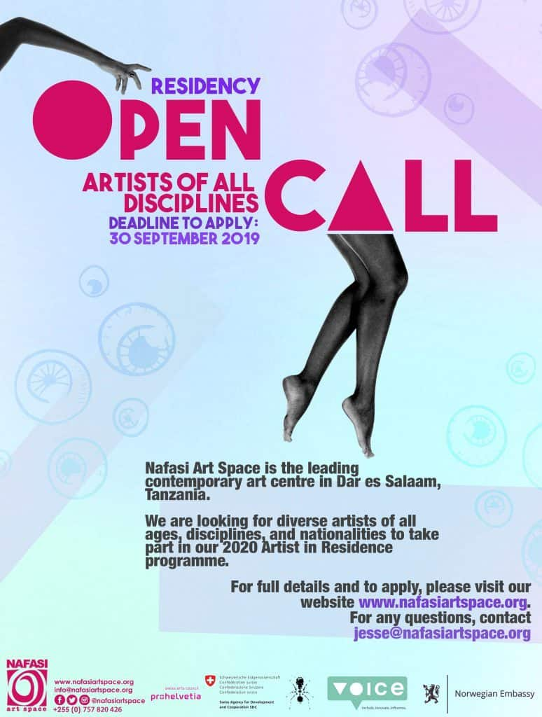 NAFASI ART SPACE: RESIDENCY OPEN CALL - ARTISTS OF ALL